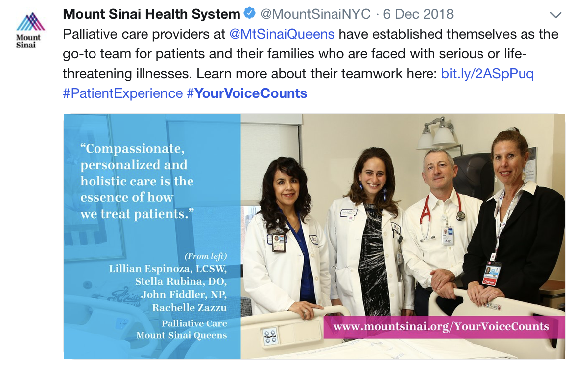 Mount Sinai Health System Patient Experience Initiative