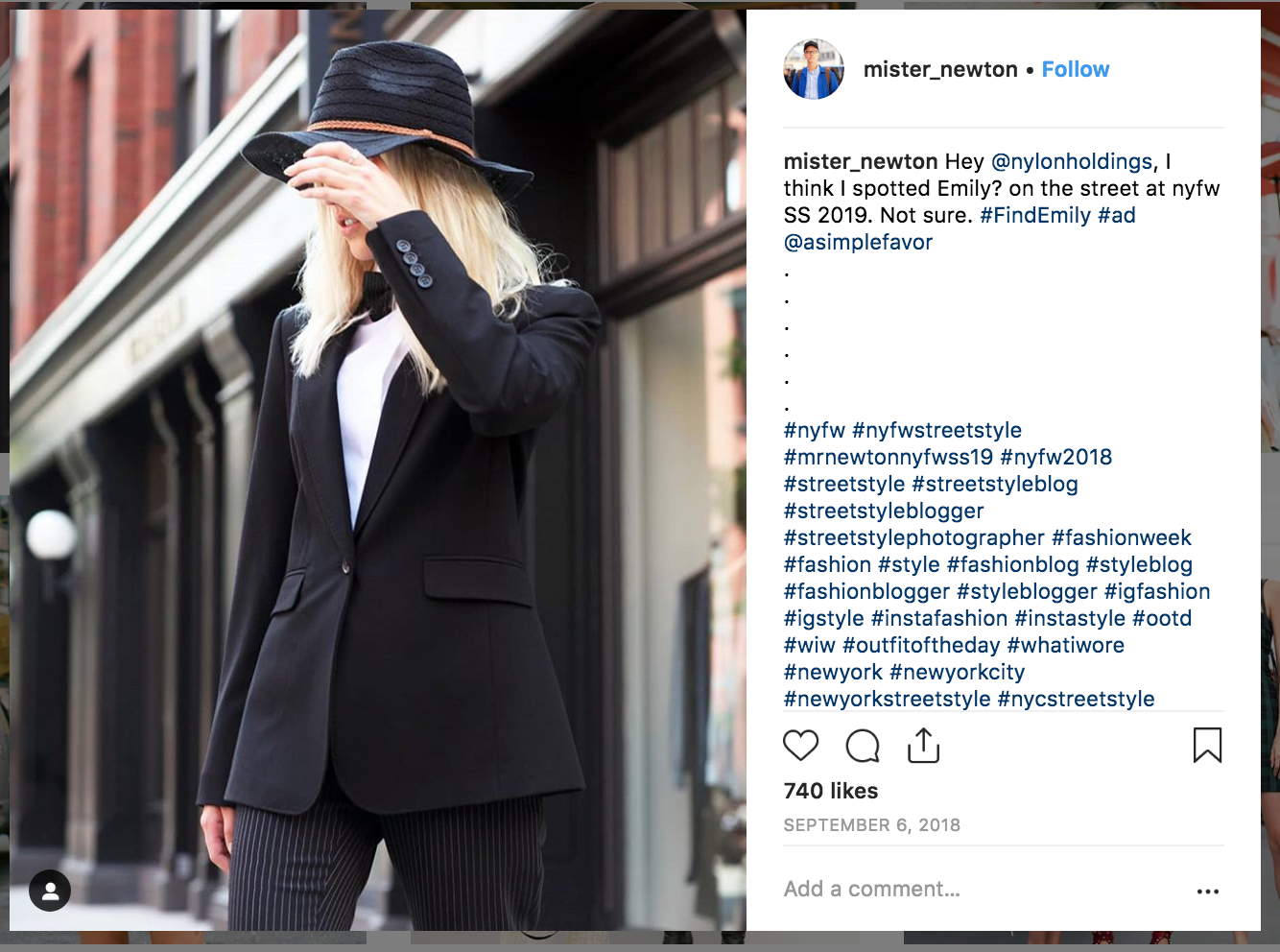 A Simple Favor Instagram Search Party For Emily Nelson The