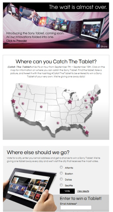 Sony #CatchTheTablet - The Shorty Awards