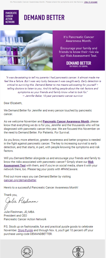 Pancreatic Cancer Awareness Month - Demand Better - The