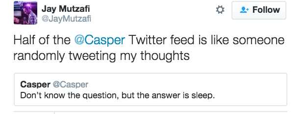 Casper: The Tweeting Mattress - The Shorty Awards