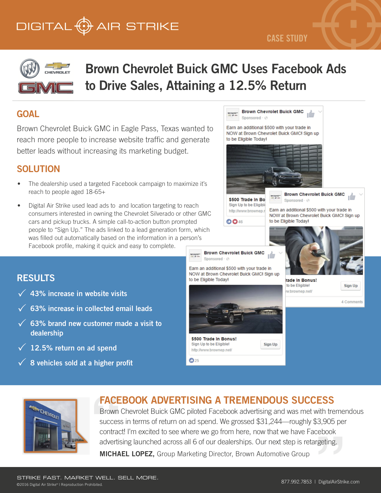 Digital Air Strike: Brown Automotive Group – Facebook Campaign - The