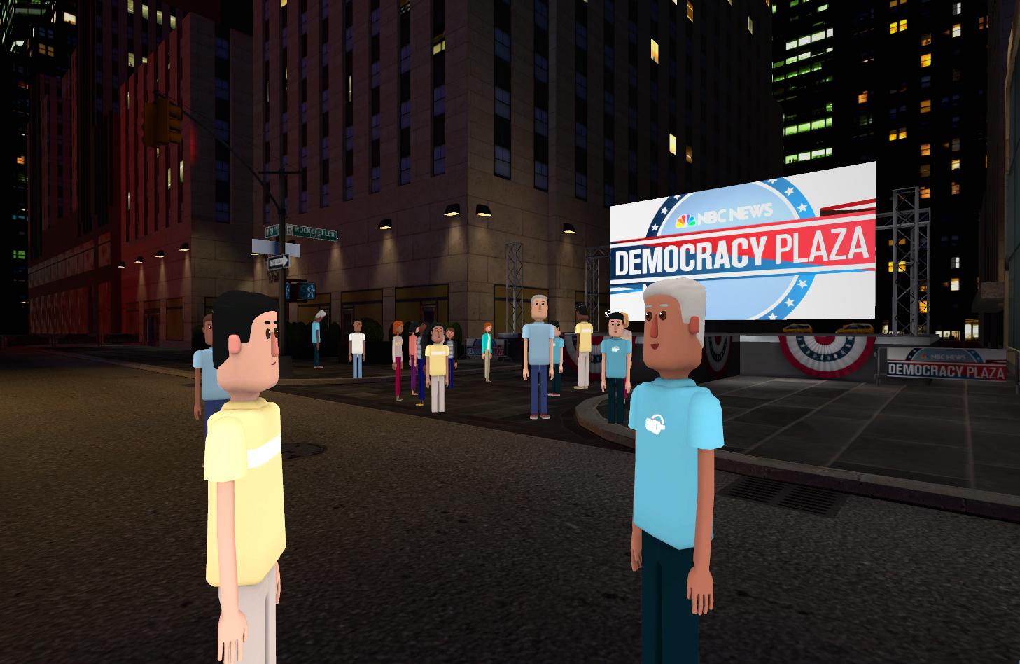 3a572b62ac15 NBC News  Virtual Democracy Plaza - The Shorty Awards