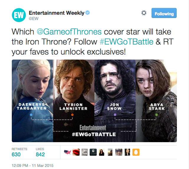 Entertainment Weekly Tumblr - The Shorty Awards