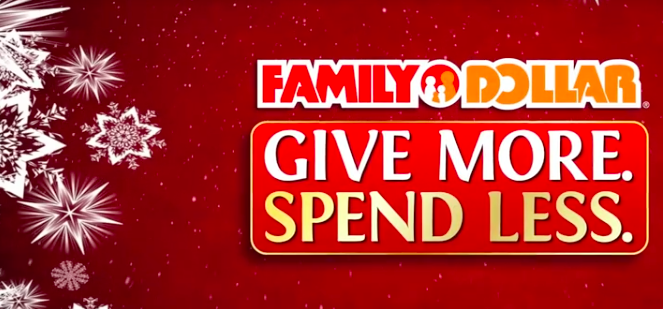 Family Dollar Christmas Trees.Family Dollar Give More Spend Less Holiday Campaign