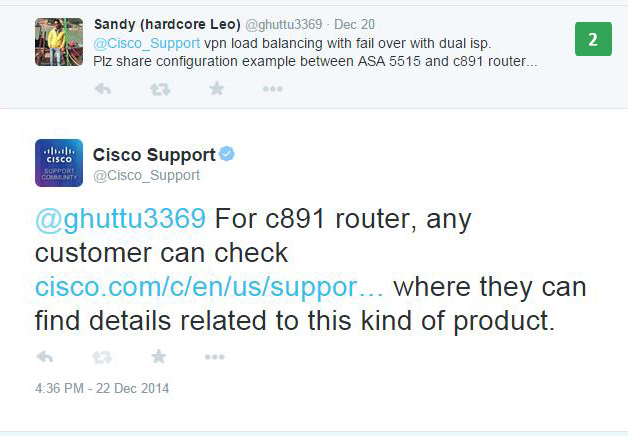 Optimized Service from Cisco Support Community - The Shorty
