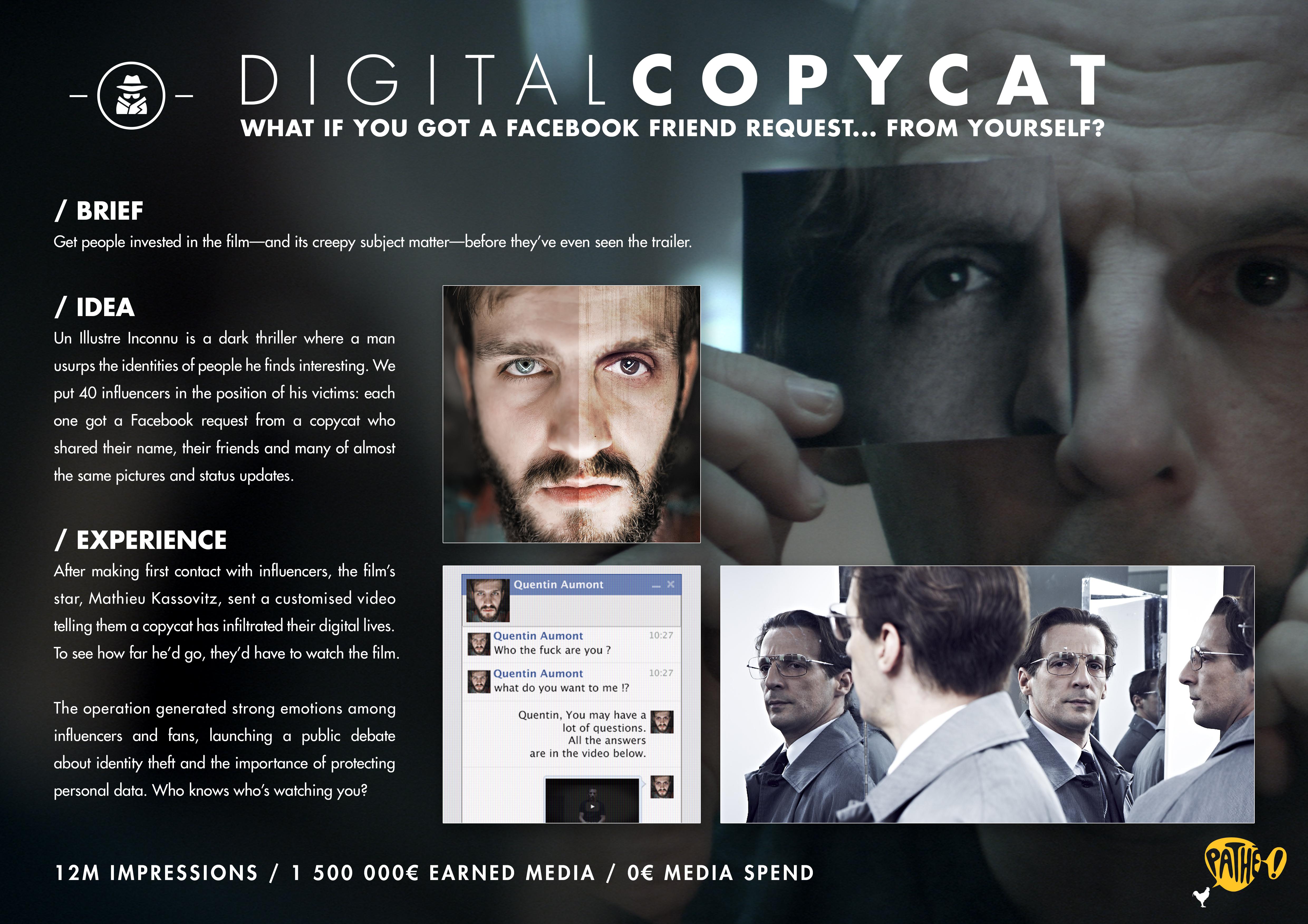 Un Illustre Inconnu steals the Facebook identities of 40