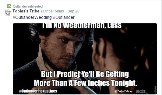 Hey Girl Is Out Hey Lassie Is In Starz Launches Meme Campaign For Outlander The Shorty Awards